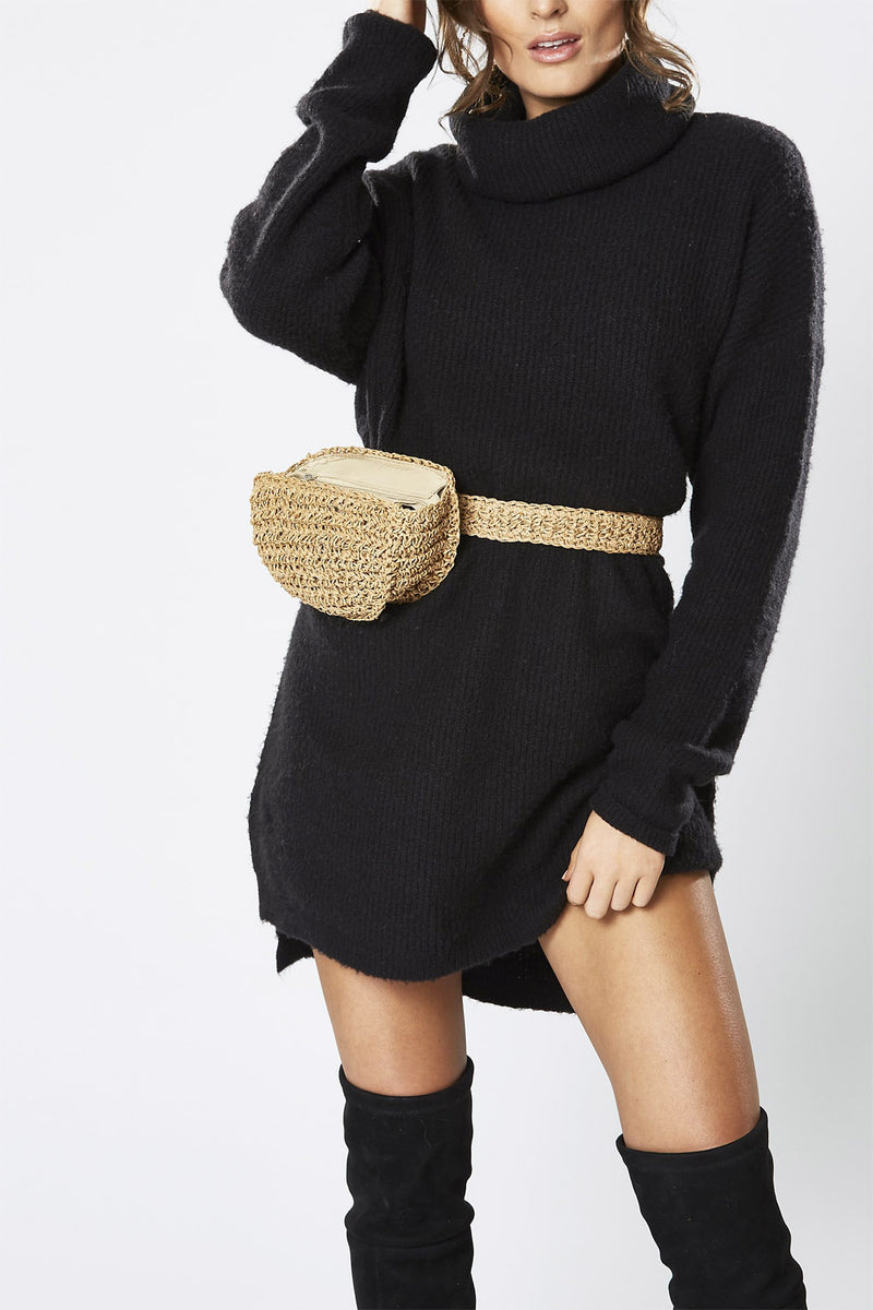 Winona Raven Knit Dress Black