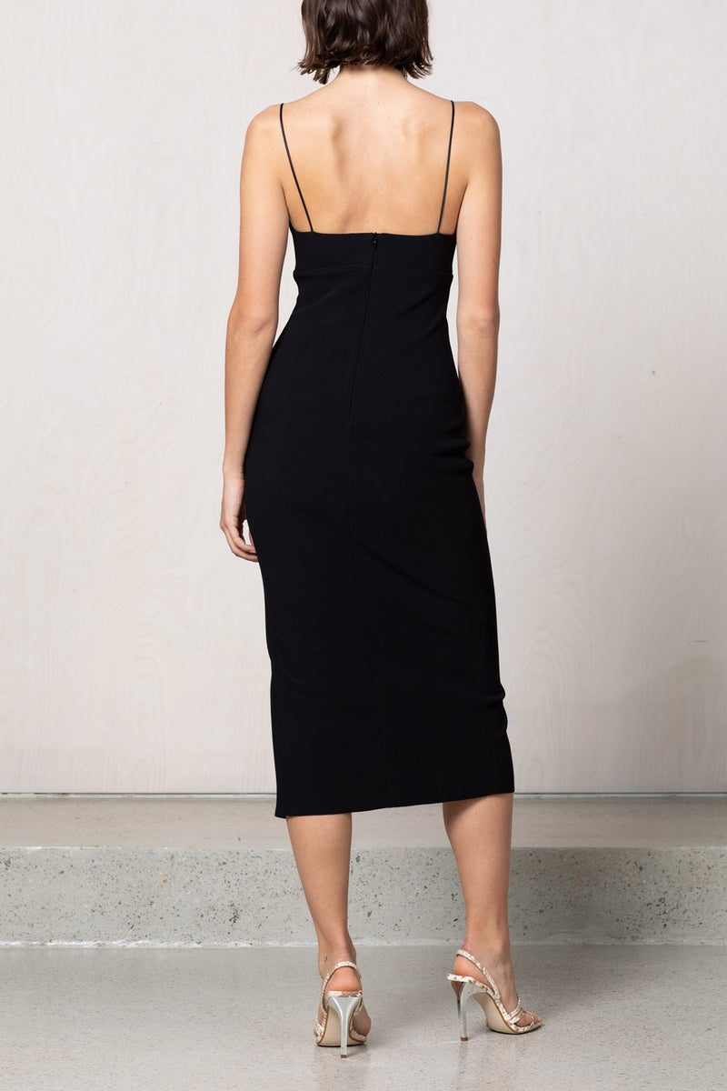 Bec and Bridge Lea Split Midi Dress Black