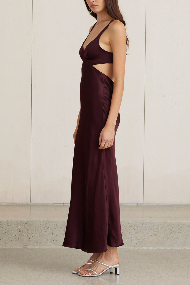 Bec and Bridge Caroline Cut Out Dress Plum