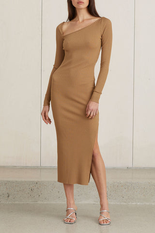 Bec and Bridge Iman Midi Dress Caramel