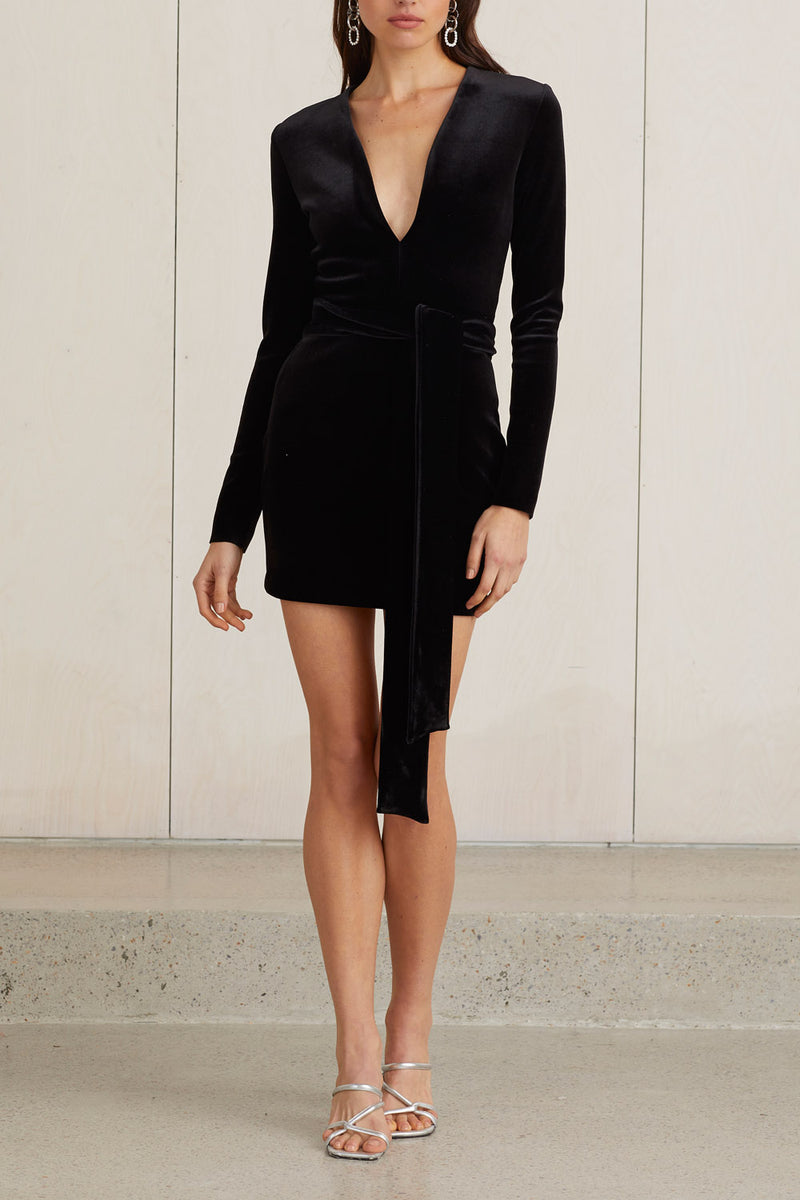 Bec and Bridge Velours Mini Dress