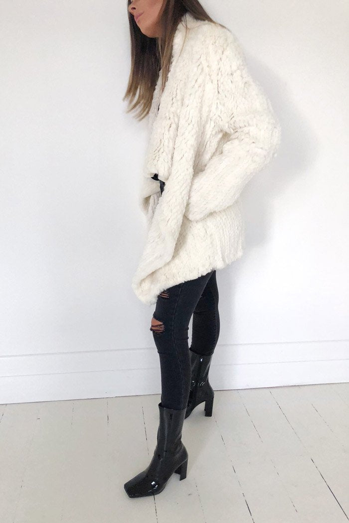 Waterfall Fur Jacket Cream