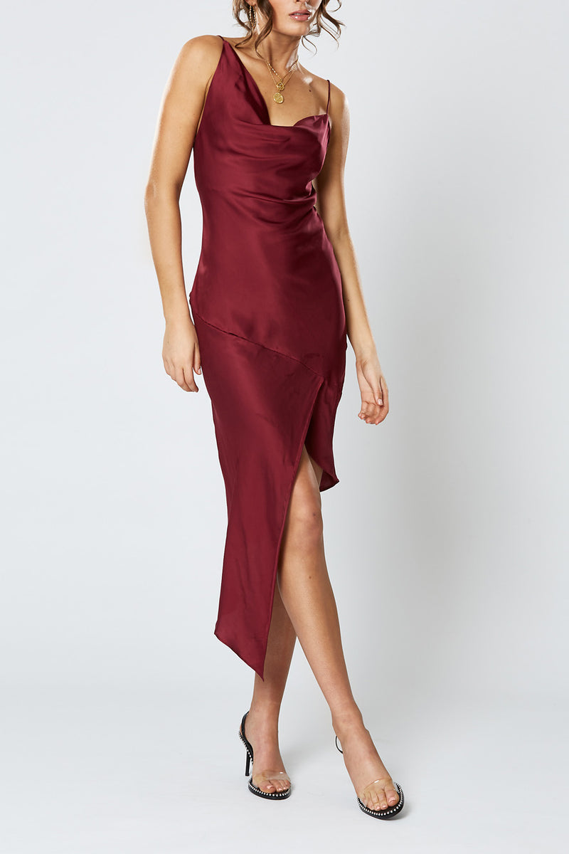 Winona Britannia Asym Dress Wine