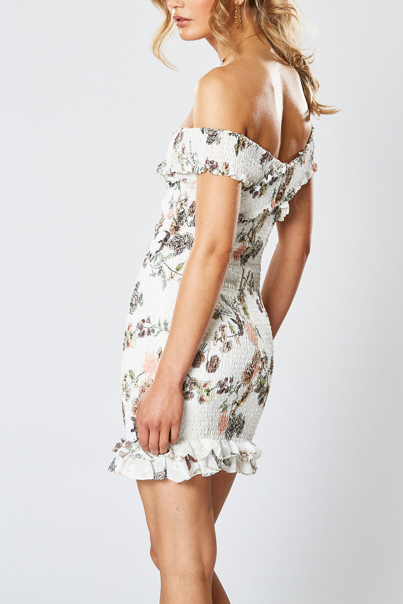 Winona Hummingbird Shirring Dress