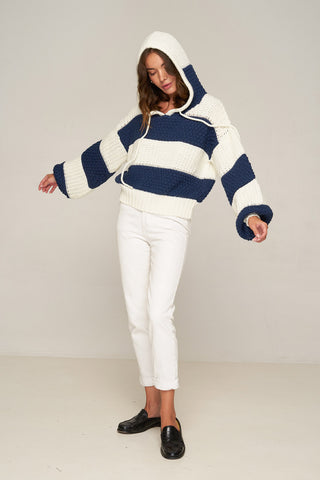 Rue Stiic Campbell Bomber Navy Stripe