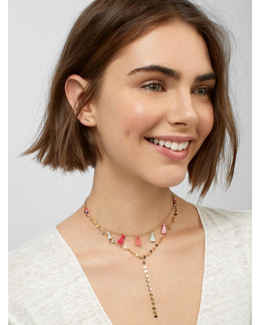 TOPAZ LAYERED Y-CHAIN NECKLACE