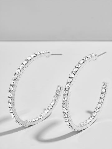 Baublebar DIAMONIQUE HOOP EARRINGS