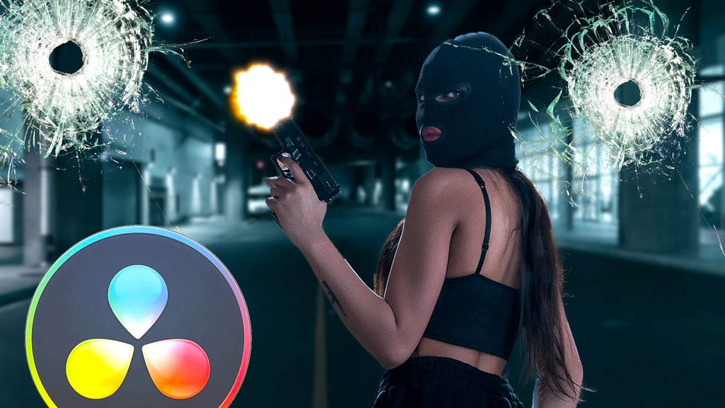 Create an Intense Action Scene in DaVinci Resolve with our Free Gun FX