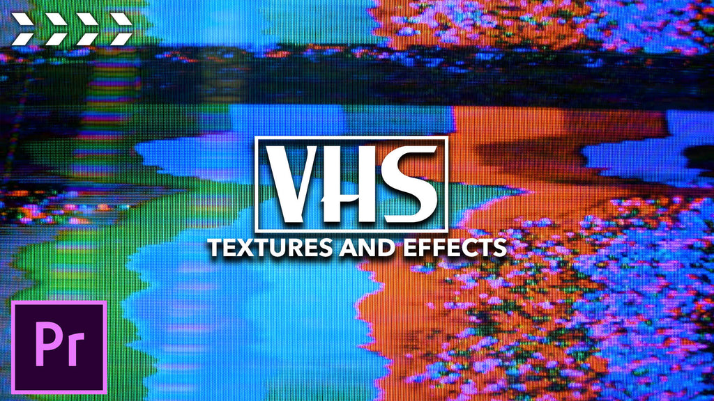 VHS Transitions, Overlays, and Background Textures