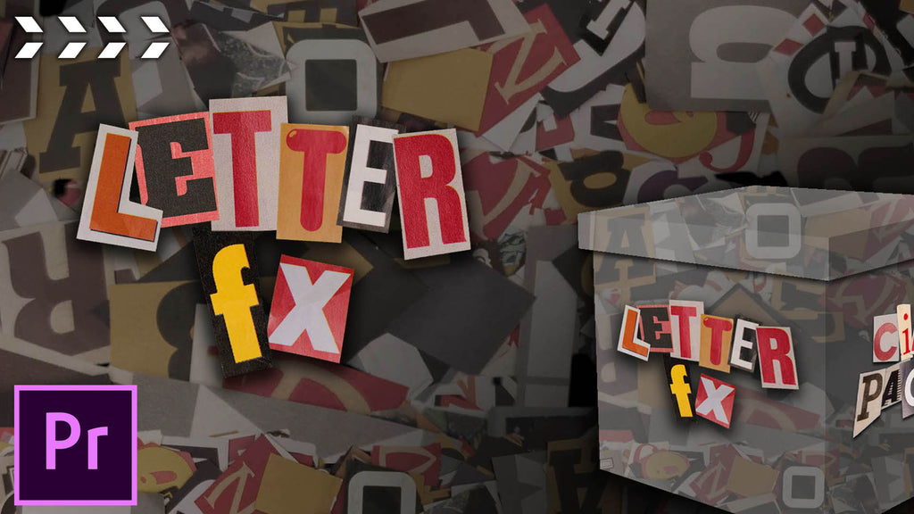 Use our Letter FX Pack to Create Ransom Note Style Music Video Effects