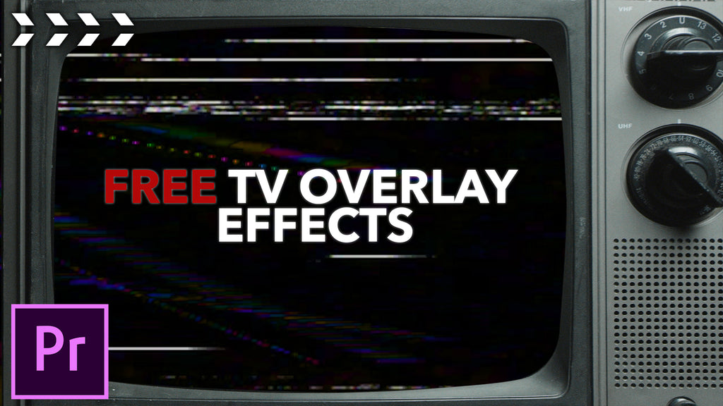 Free vintage TV overlays in Premiere Pro