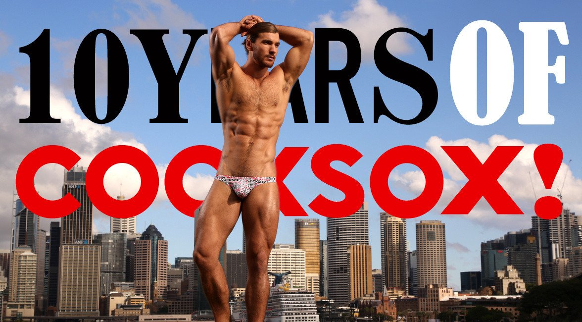 Say it loud in Cocksox 10th anniversary Decadence underwear