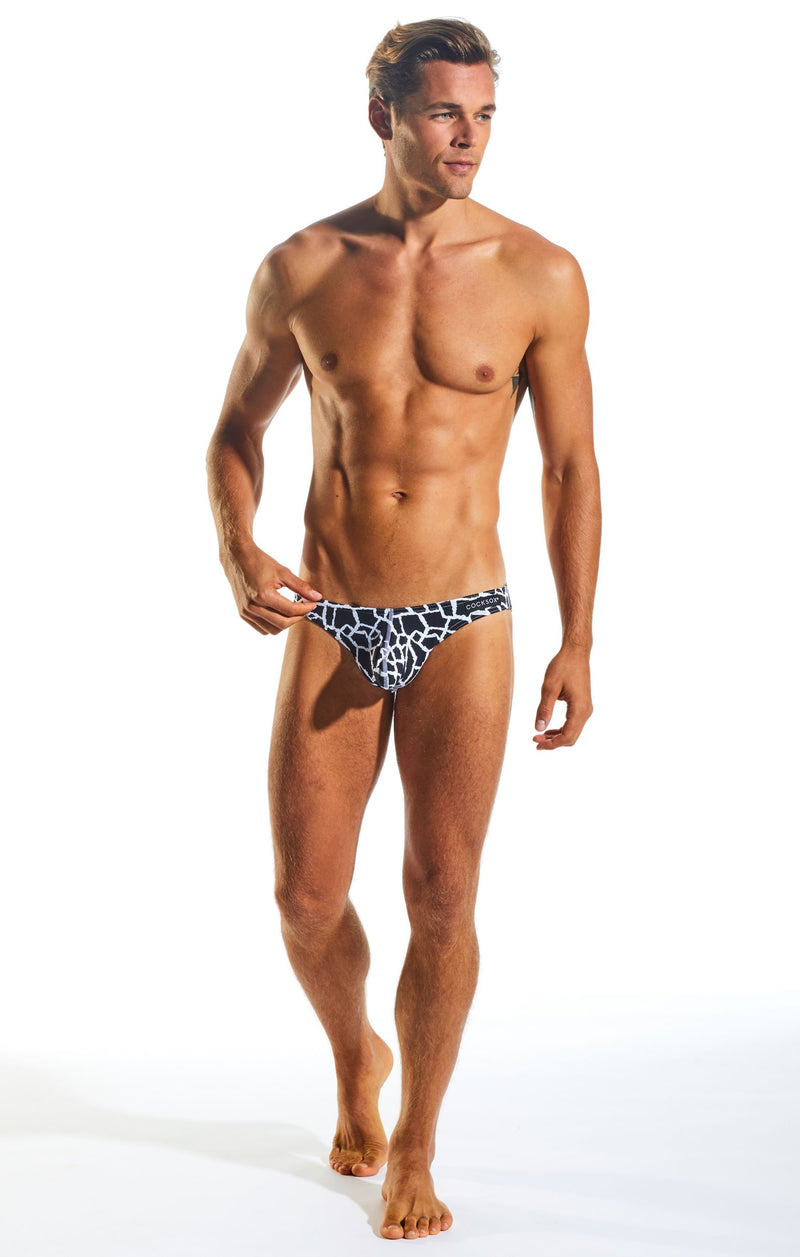 Cocksox CX01WD Underwear Brief in Giraffe full body image