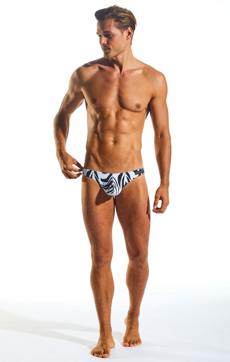 Cocksox CX01WD Underwear Brief in Zebra full body image
