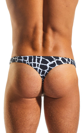 Cocksox CX05WD Underwear Thong in Giraffe back body image