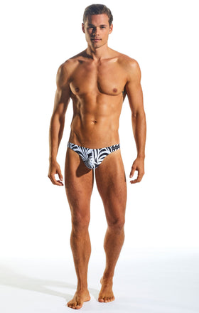 Cocksox CX05WD Underwear Thong in Zebra full body image