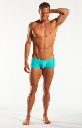 Cocksox CX08 Swimwear Trunk in Bermuda Blue full body image