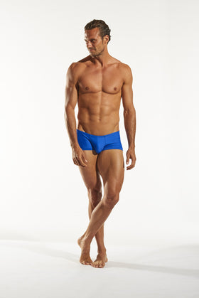 Cocksox CX08 Swimwear Trunk in Galactic Blue full body image