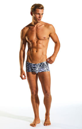 Cocksox CX08PR Swimwear Trunk in Safari print full body image