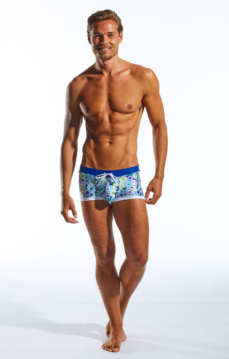 Cocksox CX08WB Swimwear Trunk in Freshballs print full body image