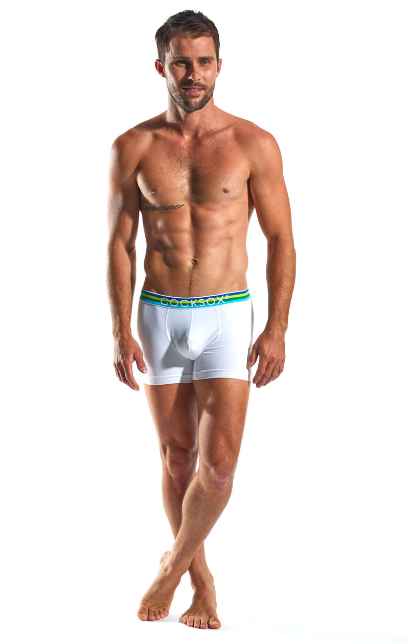 Cocksox CX12 Underwear Boxer in Polo White full body image