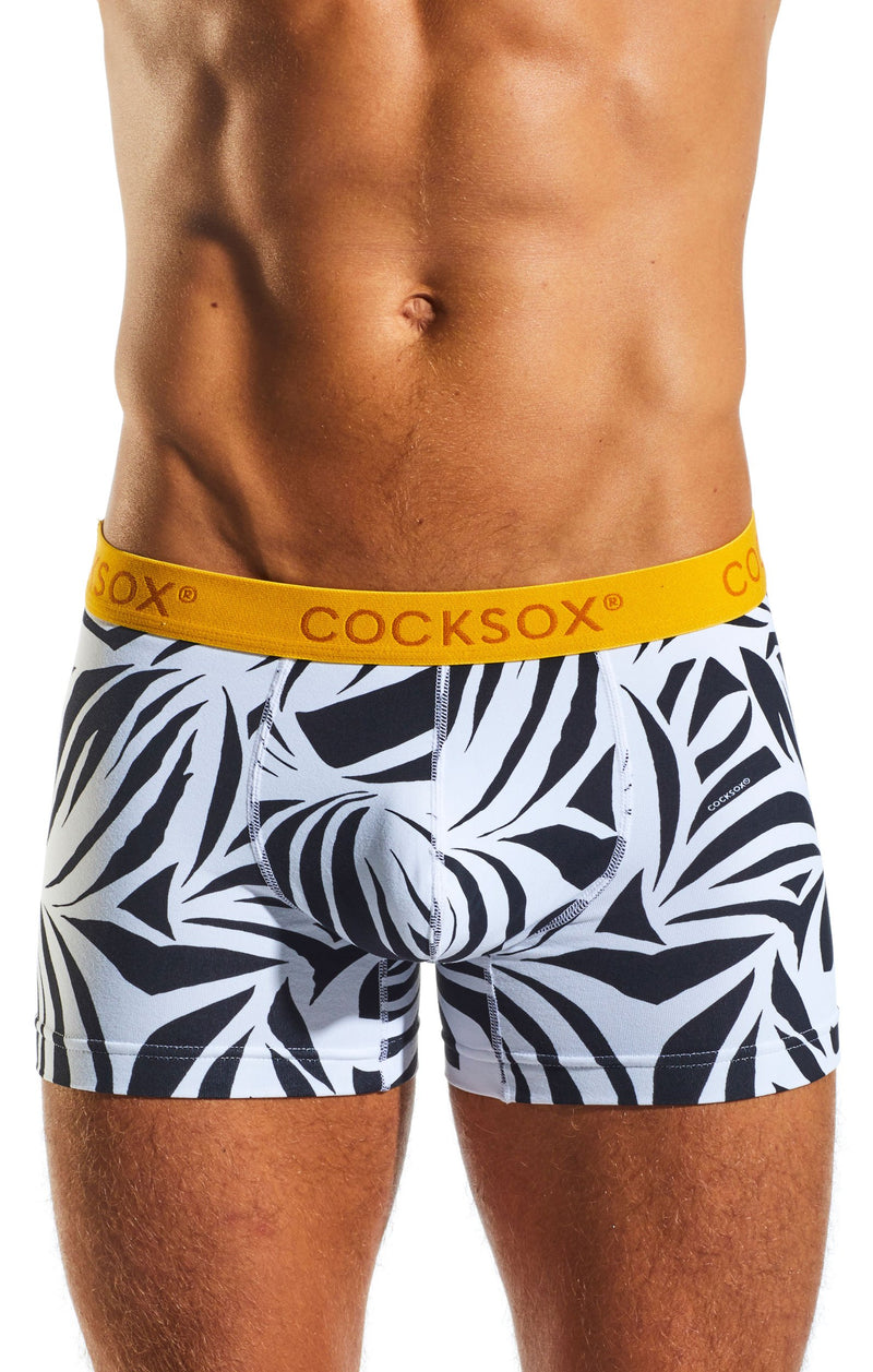 Cocksox CX12WD Underwear Boxer in Zebra front body image