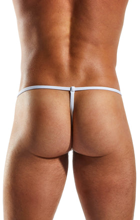 Cocksox CX14 Underwear Slingshot in Polo White back body image