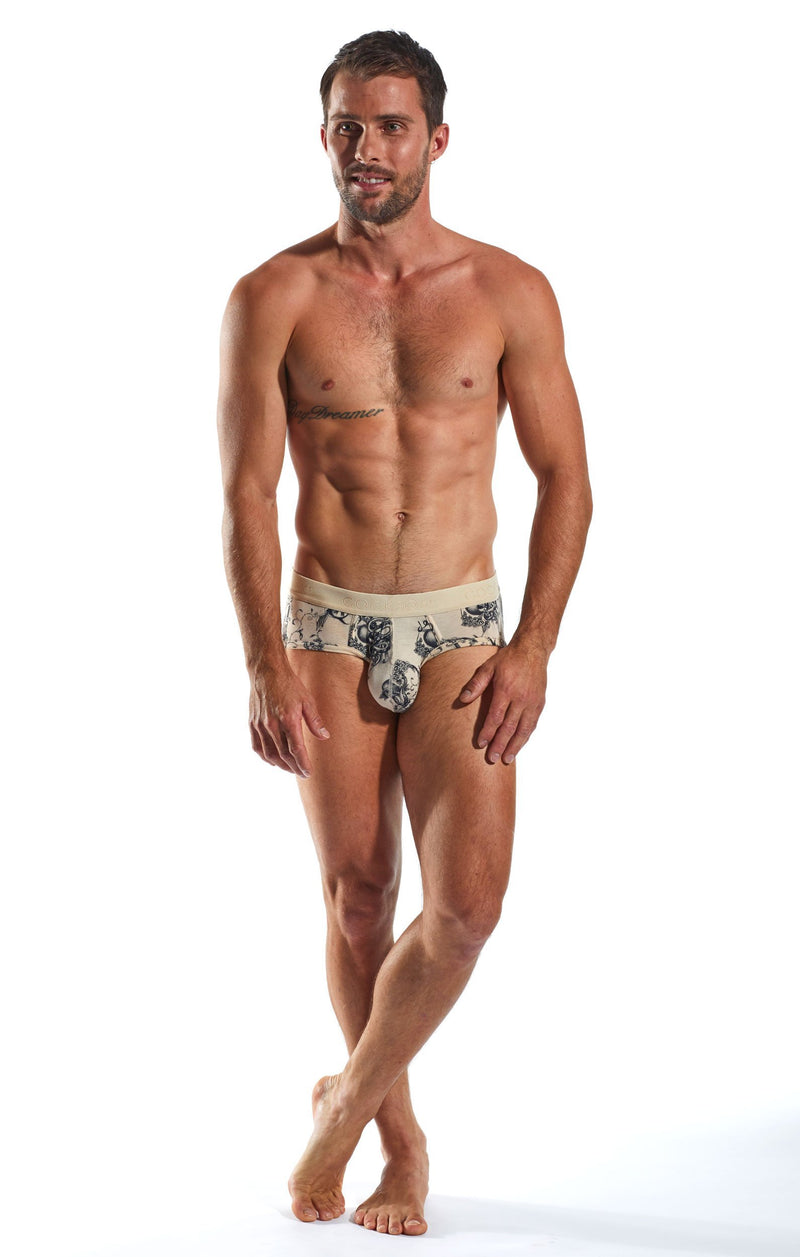Cocksox CX76INK Underwear Sports Brief in Inked full body image