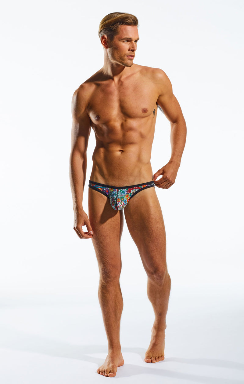 Cocksox CX01DD Underwear Brief in Calavera full body image