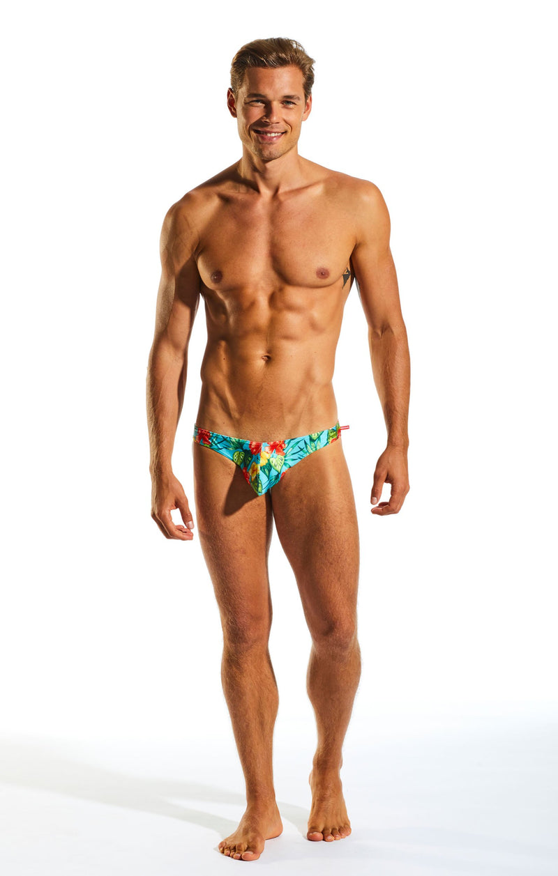 Cocksox CX02PR Swimwear Brief in Hibiscus Cruise full body image