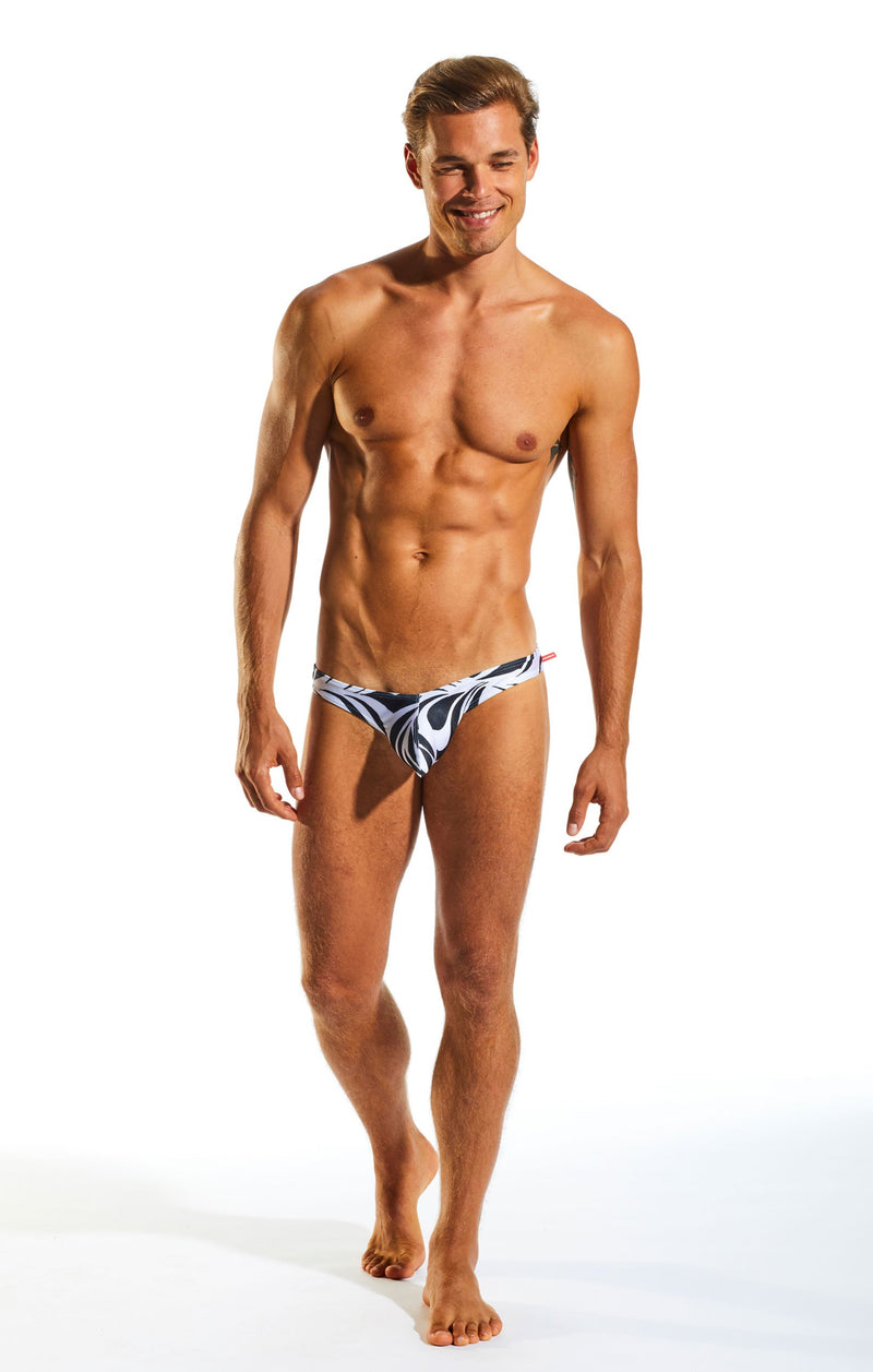 Cocksox CX02PR Swimwear Brief in Zebra print full body image