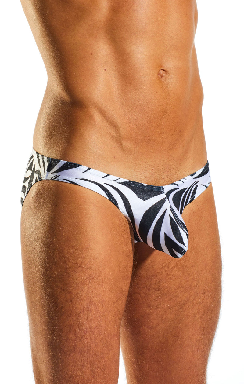 Cocksox CX02PR Swimwear Brief in Zebra print side body image