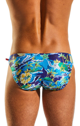 Cocksox CX02PR Swimwear Brief in Paradise Palms back body image