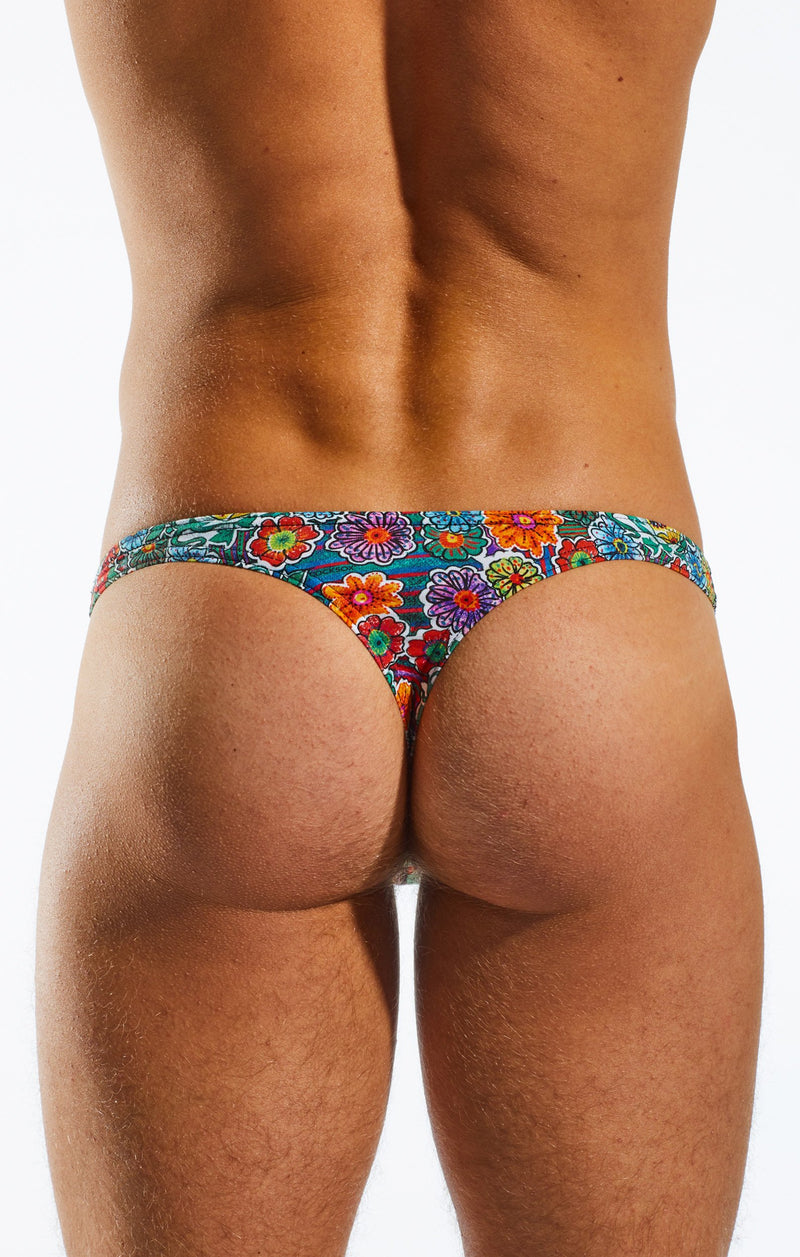 Cocksox CX05DD Underwear Thong in Calavera back body image