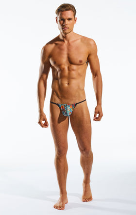 Cocksox CX14DD Underwear Slingshot in Calavera full body image