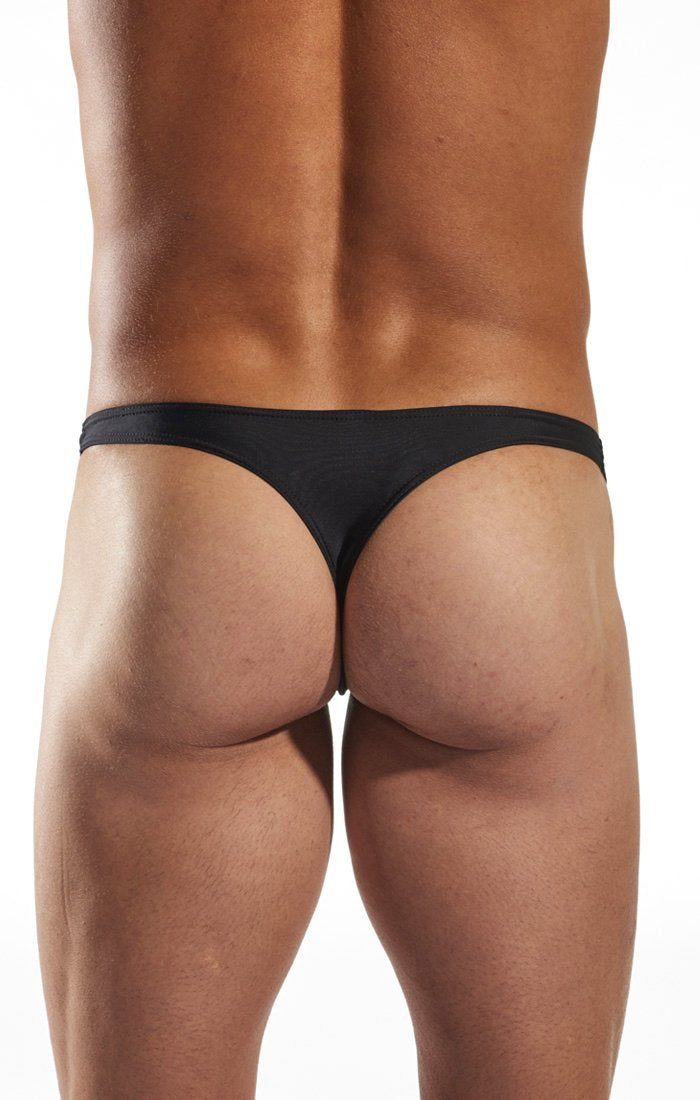 Cocksox CX22 Swimwear Thong in Jet Black back body image