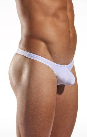 Cocksox CX22 Swimwear Thong in White Pointer side body image