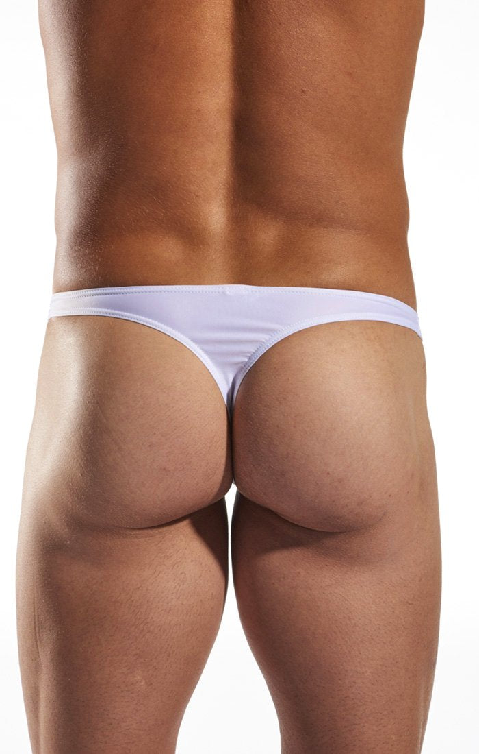 Cocksox CX22 Swimwear Thong in White Pointer back body image