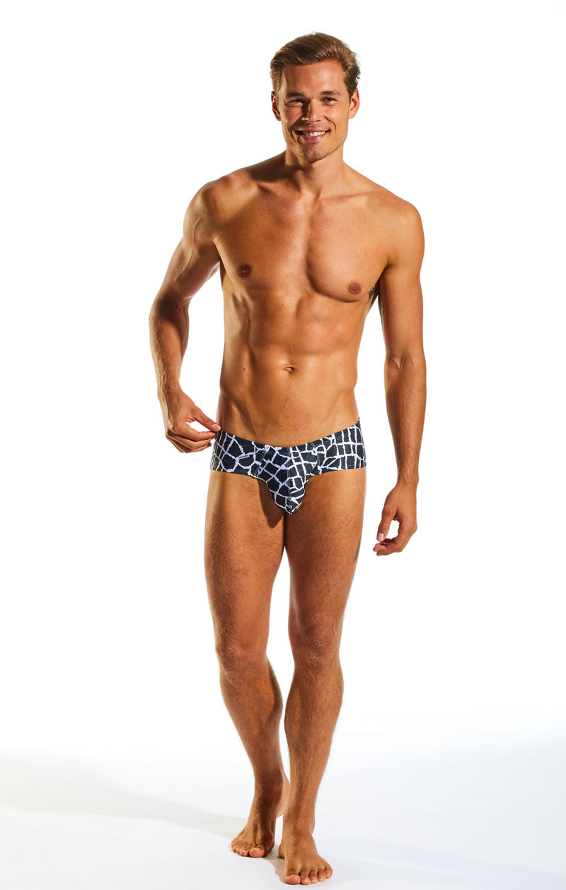 Cocksox CX79PR Boy Leg Swim Brief in Giraffe print full body image