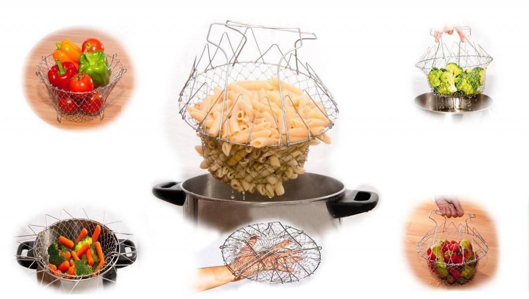 Multi purpose Kitchen Tool for Cook, Deep Fry, Boiling Solid Steel
