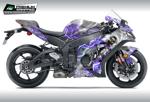 Kawasaki Ninja ZX10R Stickers Kit - 018 - H2 Stickers - Worldwide