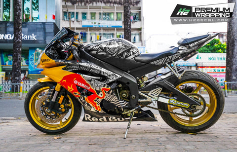 YAMAHA YZF-R6 Stickers Kit - 003 - H2 Stickers - Worldwide