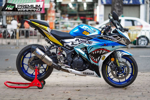 YAMAHA YZF- R3 Stickers Kit - 001 - H2 Stickers - Worldwide