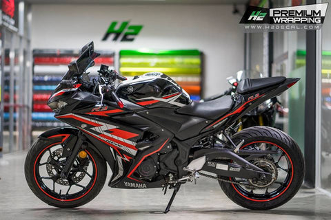 YAMAHA YZF- R3 Stickers Kit - 003 - H2 Stickers - Worldwide