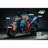 KTM 1290 Super Duke R Paint Protection Kit - H2 Stickers - Worldwide