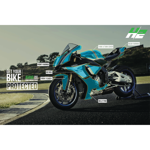 Yamaha R1 Paint Protection Kit - H2 Stickers - Worldwide