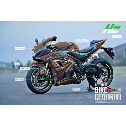 Suzuki GSX R1000 Paint Protection Kit - H2 Stickers - Worldwide