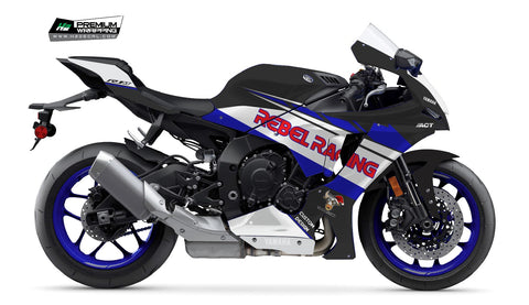 YAMAHA YZF-R1 2020 Stickers Kit - 001 - H2 Stickers - Worldwide