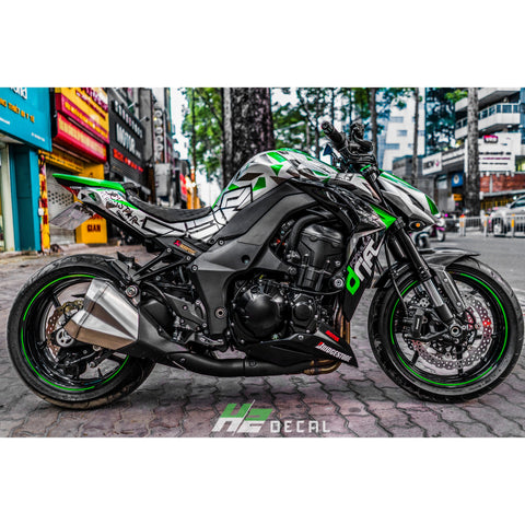 Kawasaki Z1000 Stickers Kit - 031 - H2 Stickers - Worldwide
