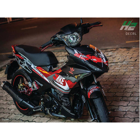 Yamaha Exciter 150 (Y15ZR) Stickers Kit - 023 - H2 Stickers - Worldwide